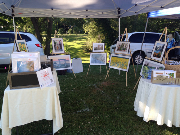 My booth-Sodus Lighthouse 3rd of July Extravaganza