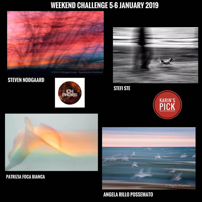 Top ICM (Intentional Camera Movement) Images Weekend Challenge 1/7/19