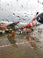 Rainy day at the Toronto Airport
