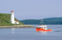 light house in Halifax Harbor (note the blue skies on our last afternoon!)
