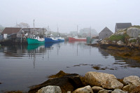 Peggy's Cove, NS in the fog