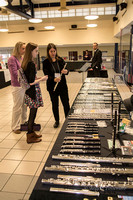 trying out new flutes is a popular activity at Flute Fair