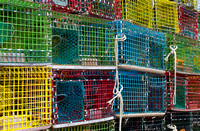colorful lobster pots