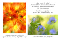 "2 images selected for ""Flora"" Exhibit at Main Street Arts May 3-30, 2014"