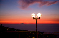 overlooking the Bay of Naples after sunset