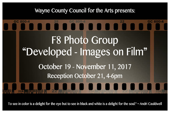 Photo Group Exhibit at Wayne Arts Oct. 19-Nov. 11, 2017. Reception Oct. 21.